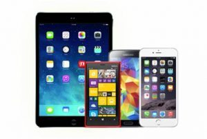 Image of smartphones and tablets.